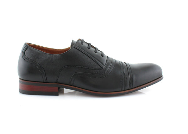 black Men's Brogue Casual Shoes  Daily Wear Side View