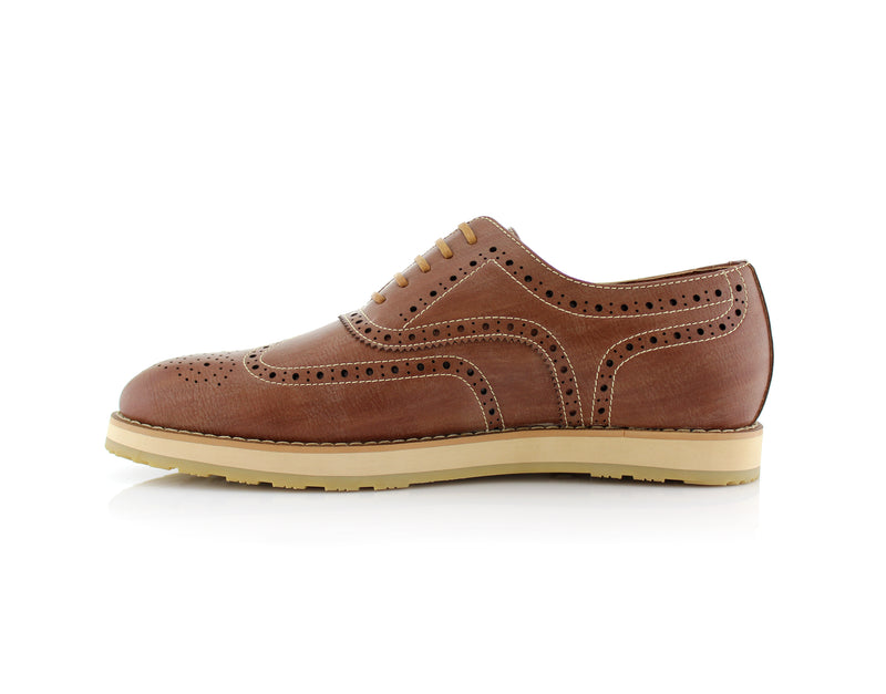 Brown Fashion Wingtip Brogues Oxford Sneaker Roger Side View