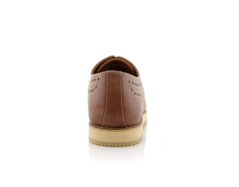 Brown Fashion Wingtip Brogues Oxford Sneaker Roger Back View