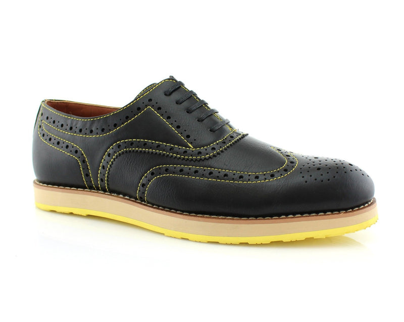 Neon Sole Shoes | Roger | Fashion Wingtip Brogues Oxford Sneaker | CONAL FOOTWEAR