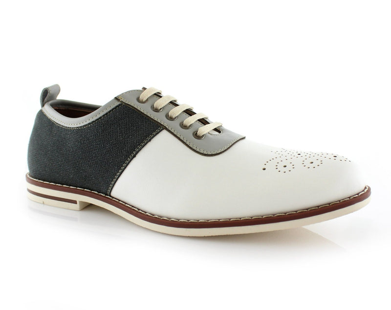 Color Block Medallion Toe Shoes | Adrian | Ferro Aldo Shoes For Men  | CONAL FOOTWEAR