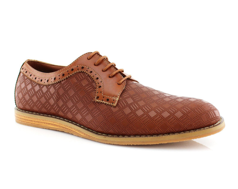 Checkered Leather Shoes | Anthony | Ferro Aldo Men's Dress Shoes | CONAL FOOTWEAR