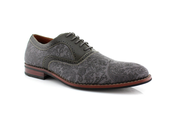 Paisley Pattern Men's Dress Shoes by Ferro Aldo