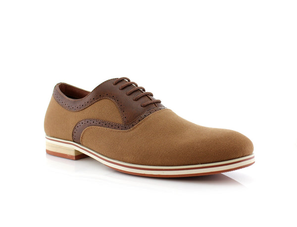 Brown Men's Suede Lace Up Casual Shoes Side View