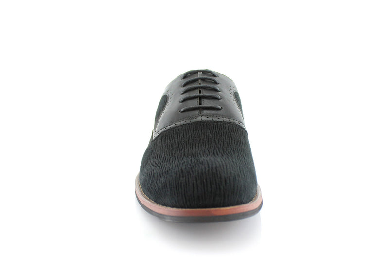 Black Men's Casual Shoes Robert Ferro Aldo Front View