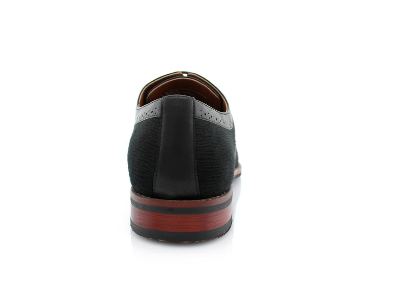 Black Men's Casual Shoes Robert Ferro Aldo Back View