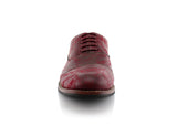 Marble Print Dress Shoes Ferro Aldo Men's Vintage Style Red Shoes Front