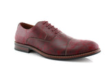 Marble Print Dress Shoes Ferro Aldo Men's Vintage Style Red Shoes Side