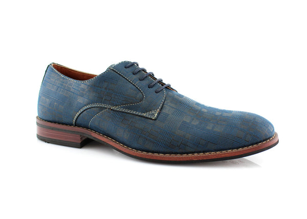 Blue Ballroom Dance Dress Shoes For Men Ashton Side View