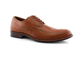 Brown Men's Comfortable Apron Toe Classic Oxford Business Shoes Aaron Side View