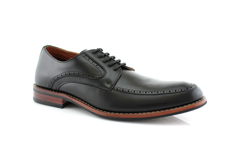 Black Brogues Wing Derby Men's Business Shoes Allus Side