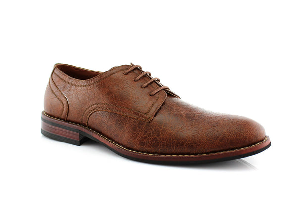 Spring Season Oxfords Dress Shoes Brown Side