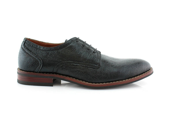 Spring Season Oxfords Dress Shoes Black Side