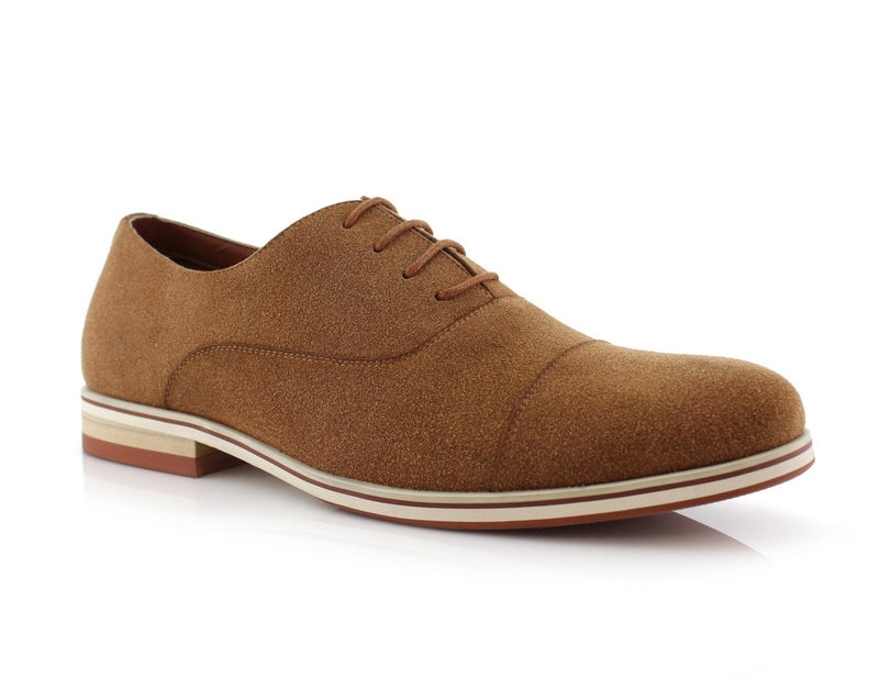 Cap Toe Suede Oxford Shoes | Bernie | Ferro Aldo Men's Daily Shoes | CONAL FOOTWEAR
