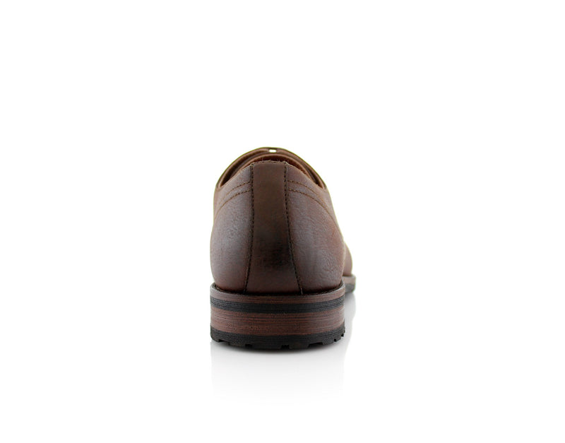 Formal Brown Shoes For Business Suits 2020 Spencer Back View