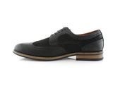 Lennox Black Wing Tipped Dress Shoes 2020 Side View