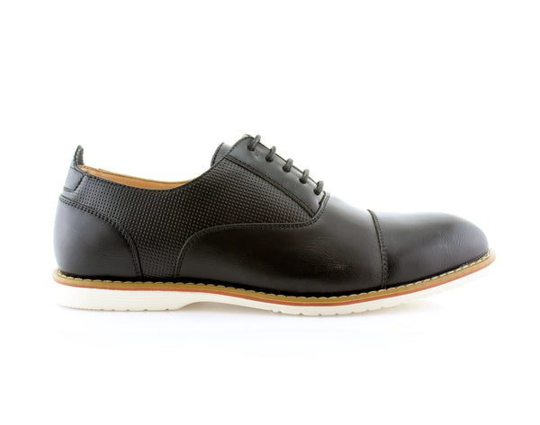 Marshall Semi Brogues Men's Black Shoe Side View
