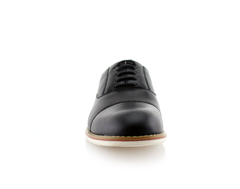 Marshall Semi Brogues Men's Black Shoe Front View
