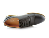 Marshall Semi Brogues Men's Black Shoe Top View