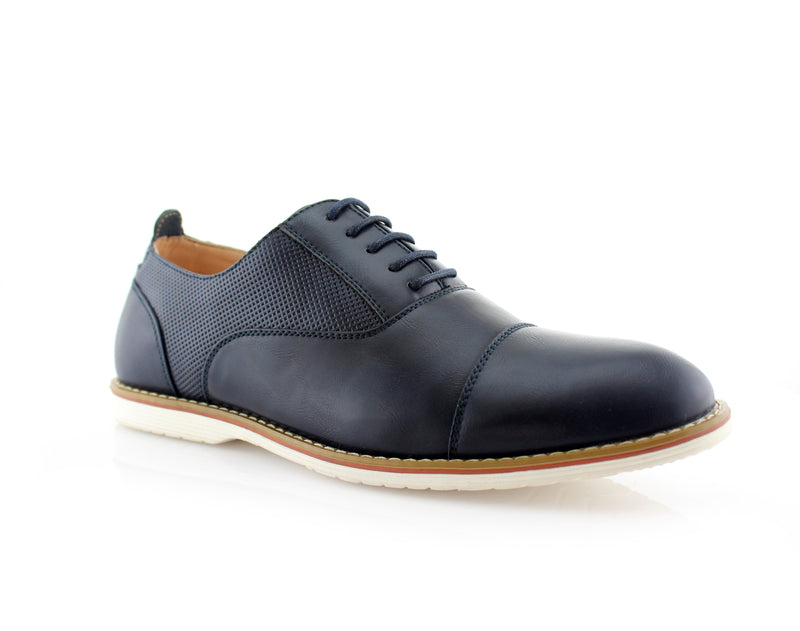 Marshall Semi Brogues Men's Blue Shoe Side View