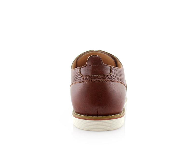 Marshall Semi Brogues Men's Brown Shoe Back View
