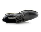 Black Embossed Oxford Men's Shoes Ferro Aldo Damian Overlook View