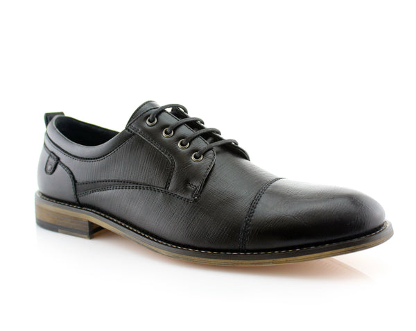Embossed Oxford Men's Shoes | Damian | Ferro Aldo Cap Toe Work Shoe | CONAL FOOTWEAR