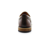Brown Embossed Oxford Men's Shoes Ferro Aldo Damian Back View