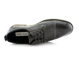 Casual Derby Man Shoes Ferro Aldo Felix Black Color Overlook View