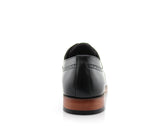 Classic Brogue Derby Perforated Black Oxford Shoes Back View