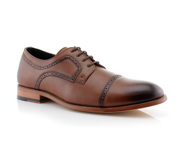 Buy Comfortable Shoes | JARED | Classic Brogue Derby Perforated Oxford Shoes | CONAL FOOTWEAR