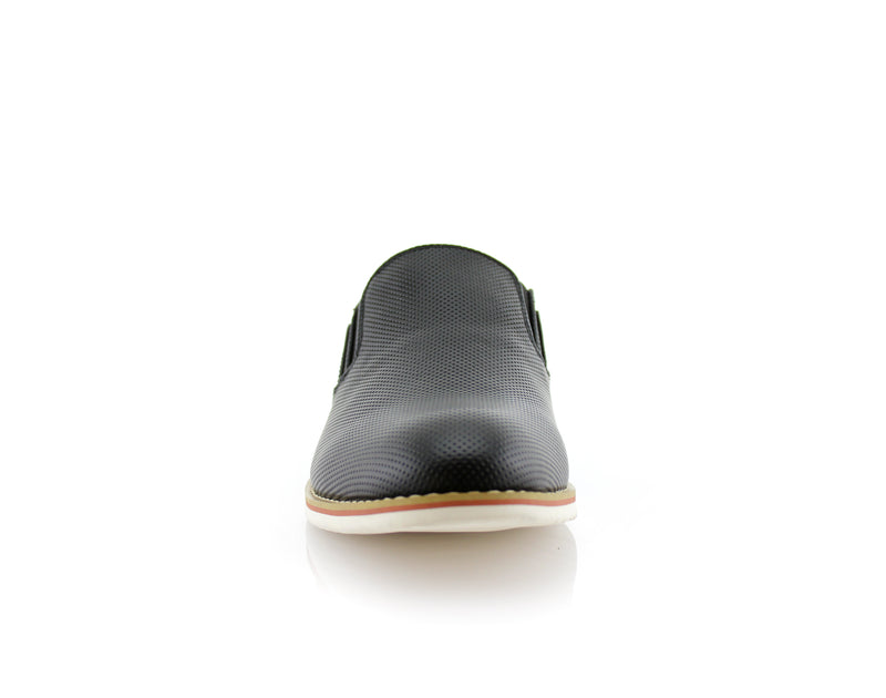 Los Angeles Men's Black Shoes For Sale Elite Front View