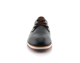Black Men's Casual Sneaker With  Memory Foam Front View