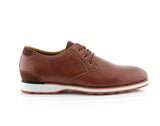 Brown  Men's Casual Sneaker With  Memory Foam Side View