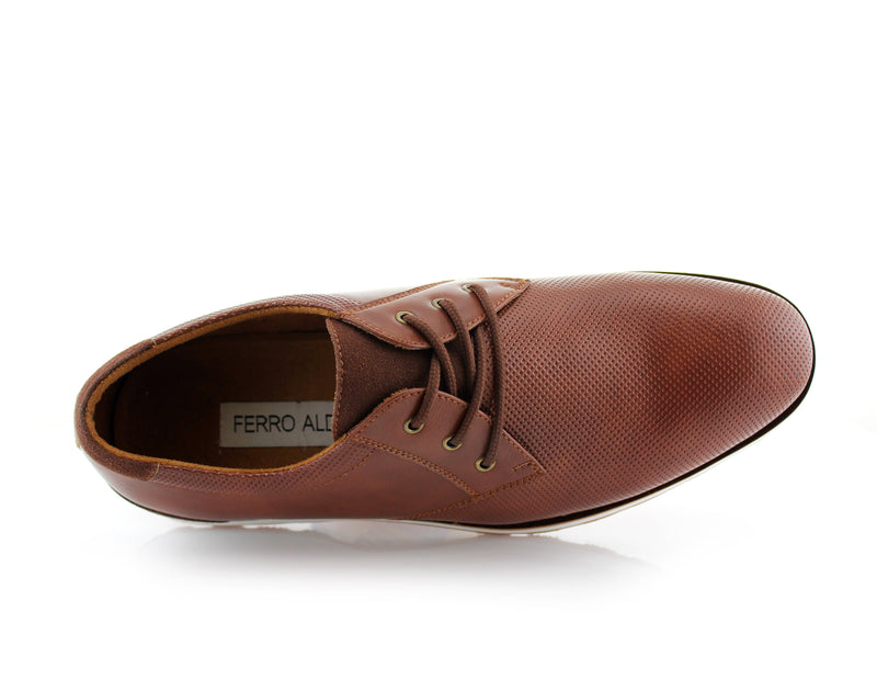 Brown  Men's Casual Sneaker With  Memory Foam Top View