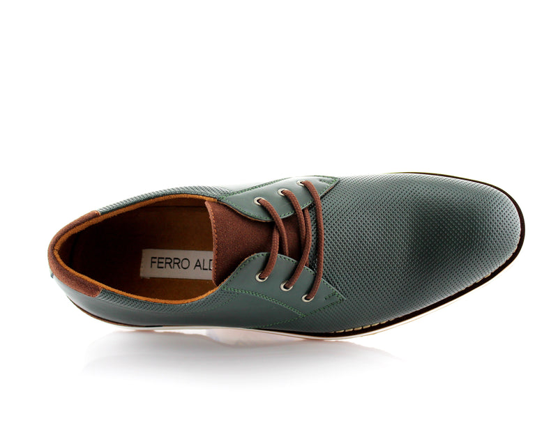 Deep Green  Men's Casual Sneaker With  Memory Foam Top View