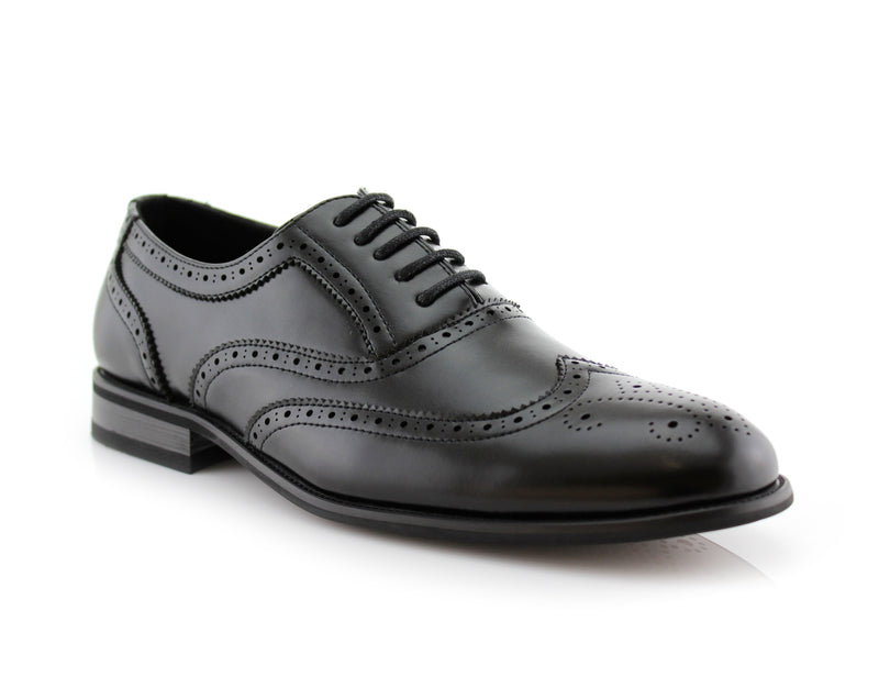 Buy Oxford Conal Footwear | Shelton | Classic Full Brogue Wingtip Dress Shoes | CONAL FOOTWEAR