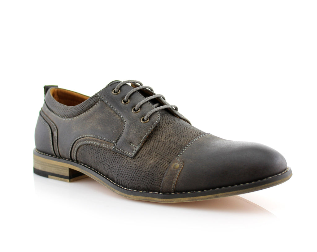 Classic Oxfords Lace-Up Leather Dress Fashion Shoes -TREVOR- Ferro Aldo - CONAL FOOTWEAR Since 1983