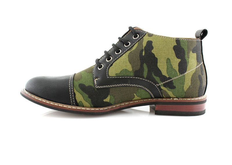 Men's Desert Sun Chukka Boot with Camouflage Pattern Fashion Shoes side view