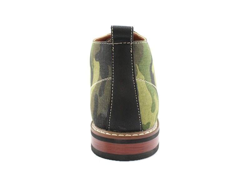 Men's Desert Sun Chukka Boot with Camouflage Pattern Fashion Shoes back view