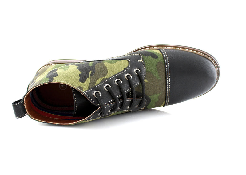 Men's Desert Sun Chukka Boot with Camouflage Pattern Fashion Shoes top view