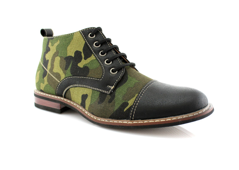 Men's Desert Sun Chukka Boot with Camouflage Pattern Fashion Shoes