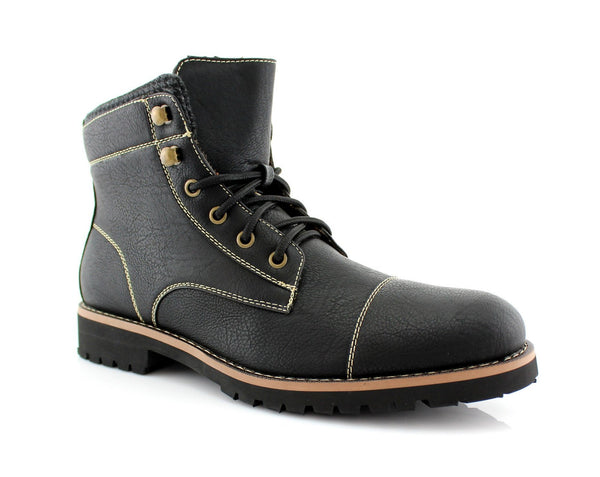 Faux Leather Men's Casual Boots For Sale | Calvin | High Top Riding Shoes | CONAL FOOTWEAR