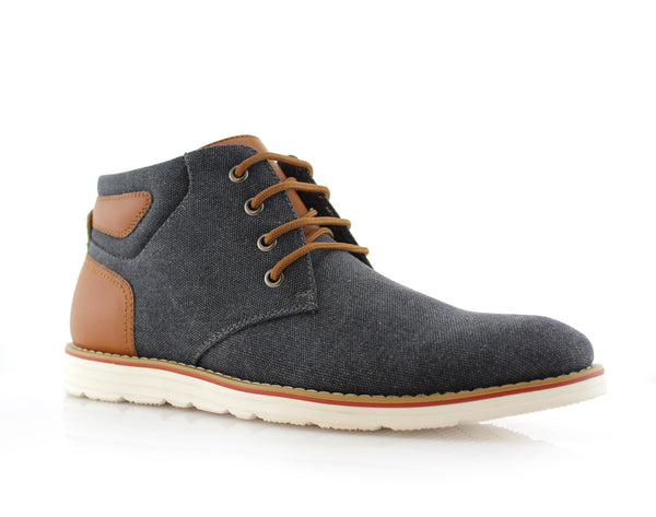 Men's Chukka Black Sneaker Owen 90's Casual Shoes To Wear Side View