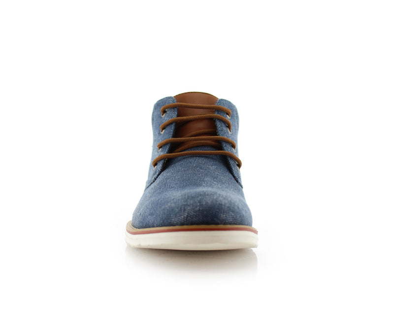 Men's Chukka Blue Sneaker Owen 90's Casual Shoes To Wear Front View
