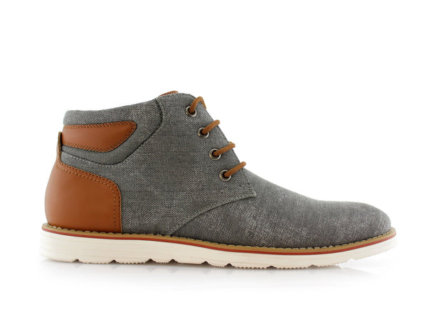 Men's Chukka Smoky Gray Sneaker Owen 90's Casual Shoes To Wear Side View