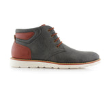 Men's Chukka Gray Sneaker Owen 90's Casual Shoes To Wear Side View
