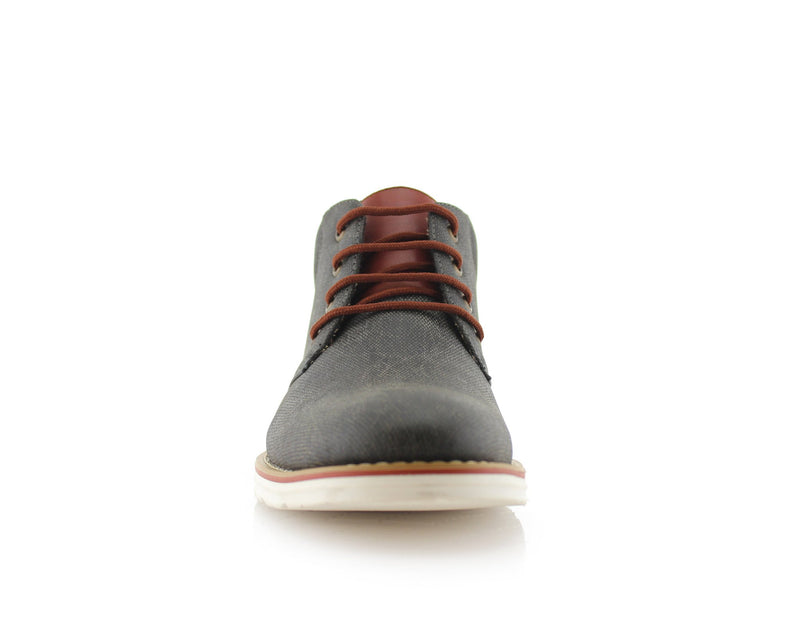Men's Chukka Gray Sneaker Owen 90's Casual Shoes To Wear Front View