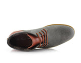 Men's Chukka Gray Sneaker Owen 90's Casual Shoes To Wear Top View
