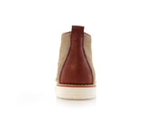 Ferro Aldo Mid Top Casual Shoe In Sand Color Donovan Back View